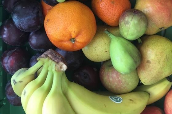 Obst und Gemüse heben die Stimmung